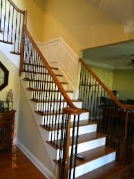 Ideas Of Wood Stairs And Rails And Iron Balusters How To Replace ... Are You Looking For A New Look Your Home But Dont Know Where Replace Banister Neauiccom Replacing Half Wall With Wrought Iron Balusters Angela East Remodelaholic Stair Renovation Using Existing Newel Fresh Best Railing Replacement 16843 Heath Stairworks Servicescomplete Removal Of Old Railing Staircase Remodel From Mc Trim Removal Carpet Home Design By Larizza Chaing Your Wood To On Fancy Stunning Styles 556
