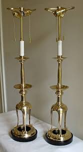 Brass Candlestick Buffet Lamps by Lighting White Candlestick Lamps With Brown Shade For Living Room