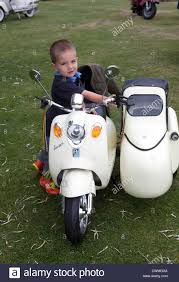 Childs Toy Model Vespa Scooter With Sidecar Stock Photo Royalty