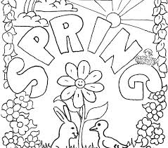 Springtime Coloring Pages Free Spring Page For Kid