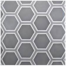 Home Depot Merola Hex Tile by Merola Tile Cemento Hex Holland Strait 7 7 8 In X 9 In Cement