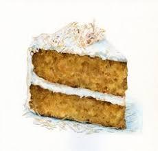 Carrot Cake Painting by ForestArtStudio on Etsy