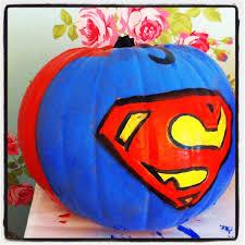 Minnie Mouse Pumpkin Painting Ideas by Superman Pumpkin By Daniellerosemakes Halloween Crafts