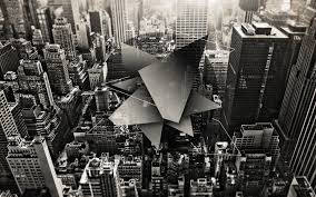 Abstract Black And White Cityscapes Urban New York City