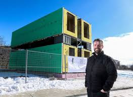 100 Container Built Homes Life In Four Sea Cans Calgary Family Moves Into Shipping