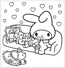 Kawaii Coloring Pages Cute Hello Kitty Crush