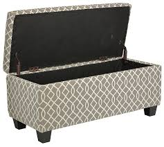 Amazon Cortesi Home Kiki Fabric Storage Long Bench Ottoman