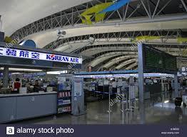 Kansai Airport Japan Sinking by Korean Air Check In Counter At Kansai International Airport Osaka