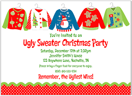 Ugly Christmas Sweater Party Invites Template