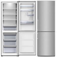 pkm kühl gefrierkombination kühlschrank kg 288 4a n inox design 296 liter