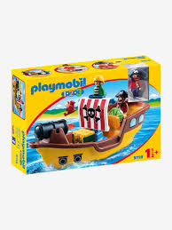 100 Design A Pirate Ship 9118 By Playmobil 123 Brown Medium Solid With Design Toys Vertbaudet