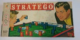 Vintage Stratego Board Game 1961 Milton Bradley Missing 2 Pieces War Strategy