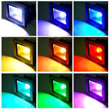 10w led rgb 900lm 16 color changing waterproof spotlight flood