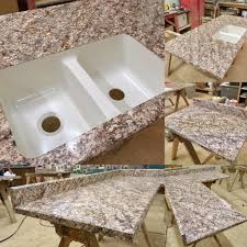 Karran Acrylic Undermount Sinks by Cosmos Granite Hd Finish Beveled Edge Profile Front U0026 Back