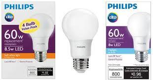 home depot philips led light bulb 4 pack only 7 97 bulbs last