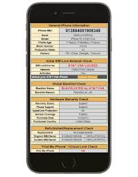 GSX IMEI Check Report Network Blacklist and iCloud full iPhone