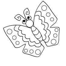 Kawaii Butterfly To Color In