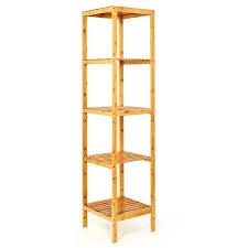 regal aus bambus mit 5 etagen ca 140x33x33cm