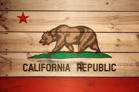 High Resolution Flag Of California Wood Texture