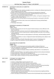 Download Manager Retail Marketing Resume Sample As Image File