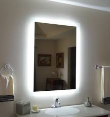outstanding wall mounted lighted vanity mirror modern bathroom
