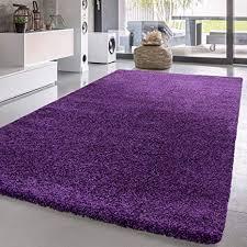 t t design hochflor shaggy teppich preishammer einfarbig in lila modern größe 60x100 cm