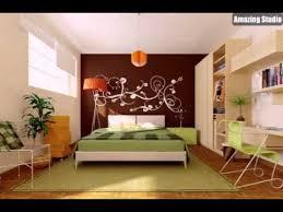 grün braun orange modern schlafzimmer