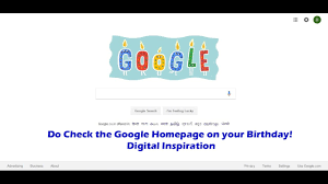 Do Check The Google Homepage On Your Birthday! Digital Inspiration ... Googles Homepage Honors Dolores Del Ro Create Your Own Google Homes Zone Set In Chrome Latest Version 2017 Youtube 15 Years Of From University To Universal Search Zdnet Flat Is Trendy Web Design Blog Billet Thedigitalcube Here Are All The Big Changes Coming Today The Verge How To Change On Safari Tutorial Dd4google Goblogscom Best Home Page Design Withal Reflecting New Ideas Interior Amazing And Bbc Release Beta Designs Jordan Hall Hello Project Redesign On Behance