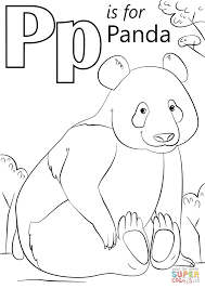 Click The P Is For Panda Coloring Pages