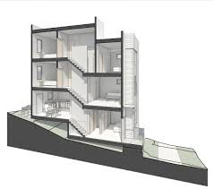 Steep Slope House Plans Pictures by David Baker Architects Hunters View Blocks 7 11