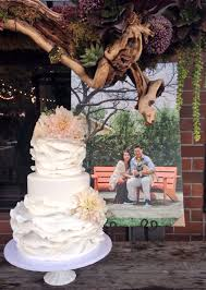 Large Ruffled Wedding Cake