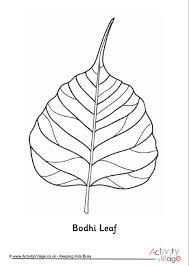 Bodhi Leaf Colouring Page