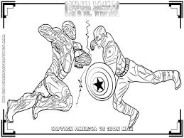 Captain America Vs Ironman Civil War Coloring Pages
