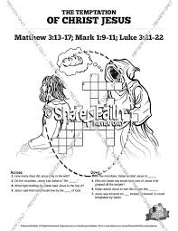 Matthew 4 Jesus Tempted Sunday School Crossword Puzzles