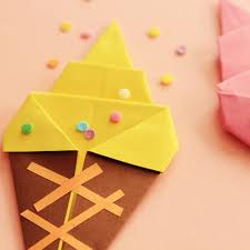 Origami Ice Creams By Poulette Magique