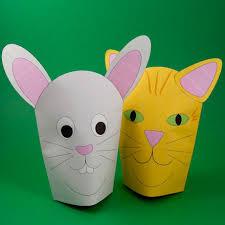 Simple Paper Mitt Hand Puppets