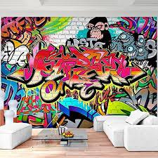 runa fototapete graffiti streetart modern vlies wohnzimmer schlafzimmer flur made in germany bunt 9065010a