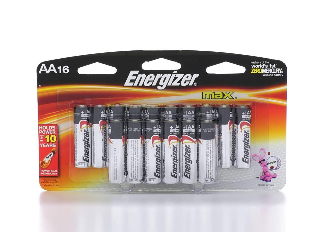 Energizer Max Battery - AA, x16