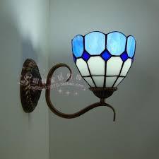 simple lighting peacock shell wall bathroom mirror front