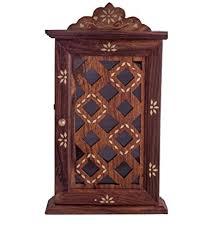 craftsman wooden wall hanging decorative key box key rack