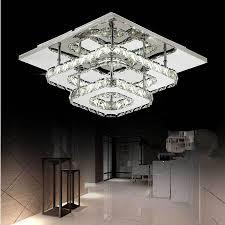 neue doppel kristall decken le wohnzimmer led len high power 36w led decke lichter edelstahl led glanz decke len