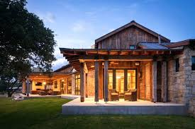 Luxury Ranch Style Homes Modern Rustic Barn Retreat In Hill Country Home Designs A