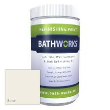 bathworks 22 oz diy bathtub refinishing kit with slip guard in