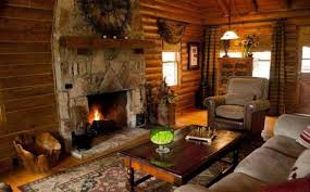 Rustic Country Style Living Rooms With Fireplace And Brown Sofa Room Curtains