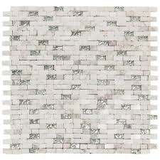 Jeffrey Court Mosaic Tile by Splashback Tile Big Brick Wooden Beige 3 In X 6 In X 8 Mm Marble