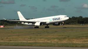 air transat nantes montreal a330 300 air transat c gkts new colors landing nantes airport