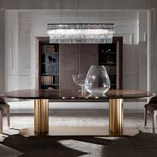 Contemporary Italian Large Oval Marble Dining Table