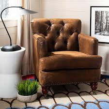 Safavieh Colin Distressed Brown Leather Arm Chair, Brown ... Brampton Traditional Upholstered Chair With Rolled Arms And Casters By Robin Bruce At Rooms Rest Del Sol Af Dundee 96675 Accent Huntington House 7366 Navy Blue Ding Room Chairs Without Set Sydney With Brass Caster Lexington Home Brands Escapecoastal Living Collection Kiawah Sofa Amusing Of Fniture Sitting Two Amazoncom Fubas Lounge Classic Tufted Linen Fabric Shelter Wing Armchair Grey Tables Lazboy Atemraubend Small Swivel Power Recliners Tub Desk For Klaussner Cameron K4000 Oc