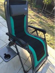 Timber Ridge Camping Chair With Table by Timber Ridge Zero Gravity Lounger Chair 136kg Weight Capacity Side
