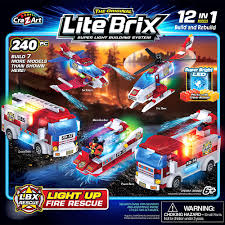 100 Lego Fire Truck Games Lite Brix 12in1 LightUp Rescue By CraZArt Party City